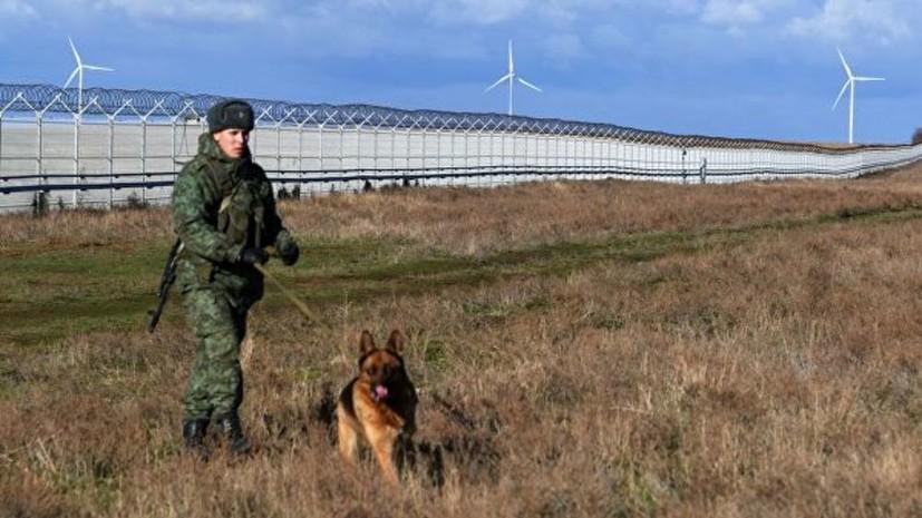 Аксёнов оценил значимость заграждения на границе с Украиной