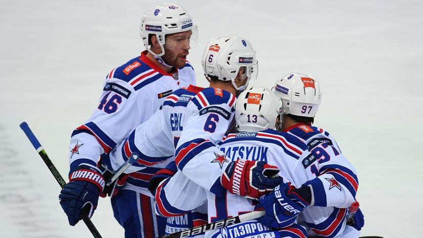 СКА в овертайме обыграл «Адмирал» в КХЛ, проигрывая со счётом 0:2