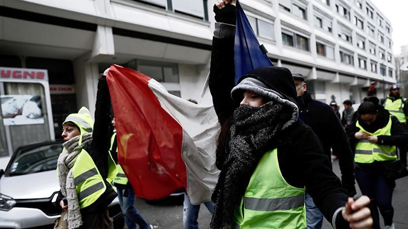 Предновогодняя акция: «жёлтые жилеты» в седьмой раз вышли на улицы Франции