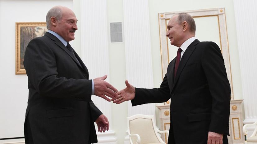 Путин договорился с Лукашенко поиграть в хоккей и покататься на лыжах