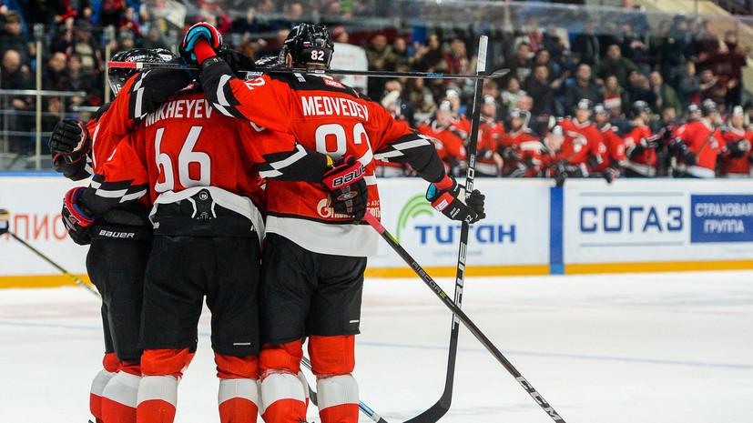 «Авангард» по буллитам победил «Барыс» в матче КХЛ, отыгравшись с 0:3