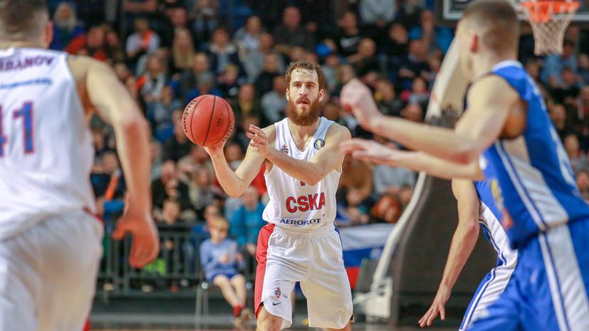 ЦСКА одержал 11-ю победу подряд в баскетбольной Единой лиге ВТБ, обыграв «Калев»
