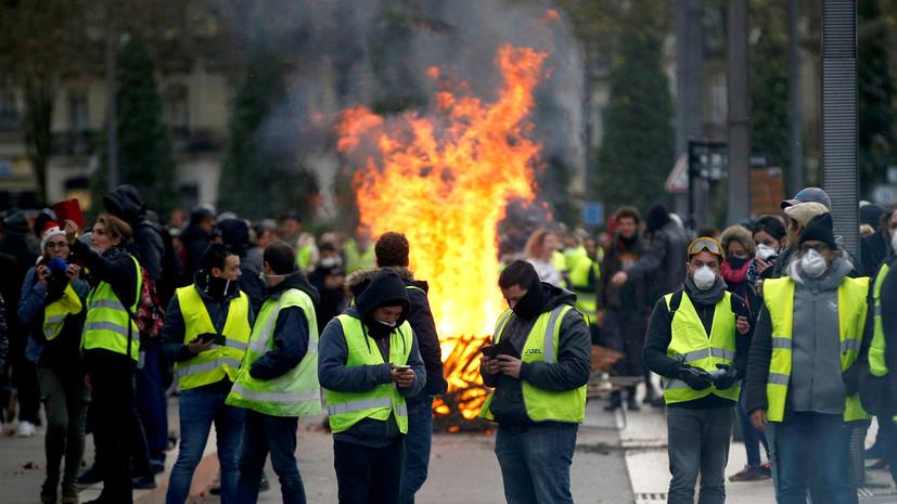 Глава МВД Франции заявил, что «жёлтые жилеты» намерены устроить беспорядки на Новый год