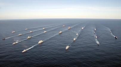 Корабли стран НАТО на военных учениях Trident Juncture 2018