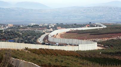 Заграждения на границе Израиля с Ливаном