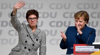 Аннегрет Крамп-Карренбауэр и Ангела Меркель