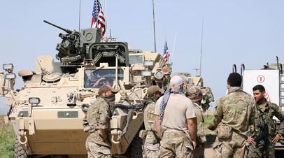 Курдские ополченцы и военнослужащие США