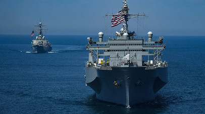 Учения НАТО в Чёрном море, корабли ВМС США. Июль, 2018