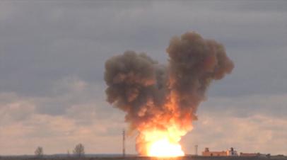 Испытательный запуск ракетного комплекса «Авангард»