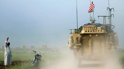 Колонна американской военной техники в Сирии