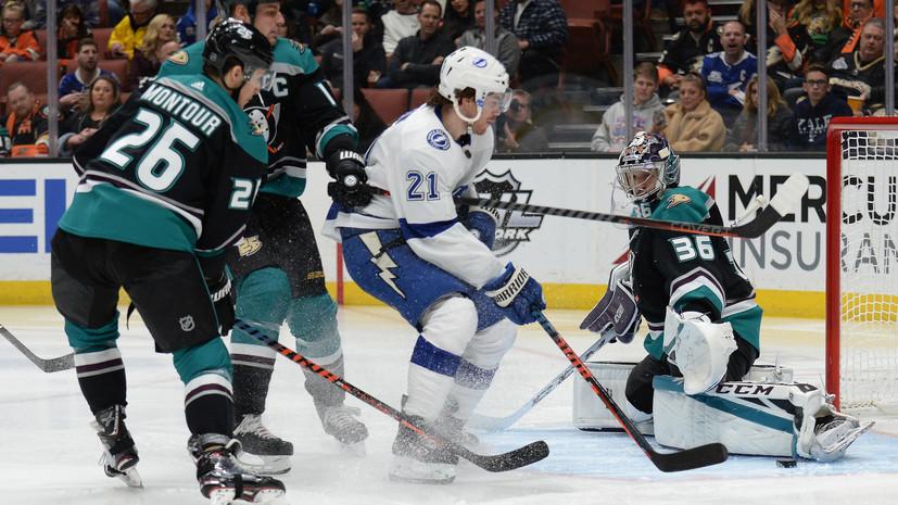 «Тампа-Бэй» победила «Анахайм» в матче НХЛ, Кучеров набрал два очка
