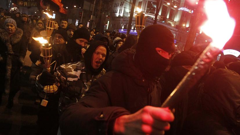 В Киеве начался факельный марш в честь дня рождения Бандеры