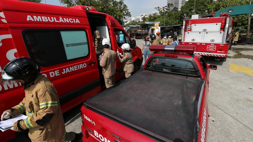 В Бразилии один человек погиб в результате падения вертолёта рядом с жилыми домами
