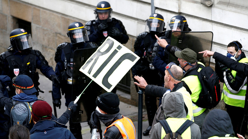 Полиция разогнала «жёлтых жилетов», блокировавших нефтехранилище во Франции
