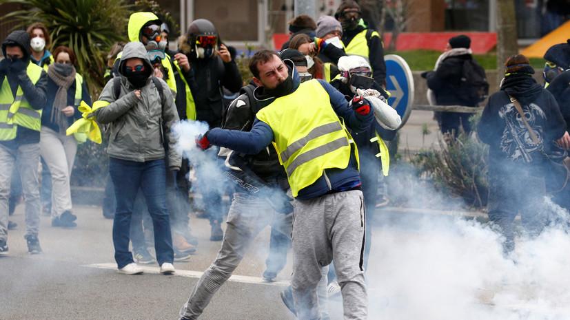 Полиция применила слезоточивый газ на акции «жёлтых жилетов» в Париже