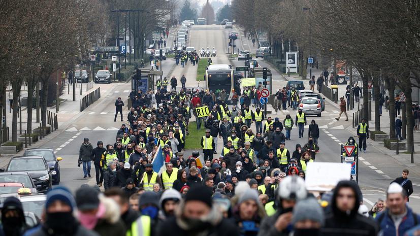 В полиции сообщили о задержаниях на акциях протеста в Париже