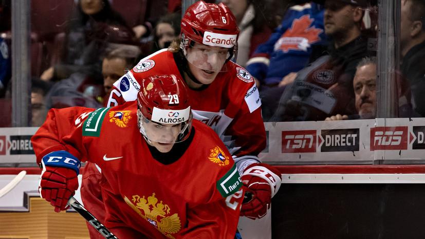 Хоккеист сборной России Слепец оформил хет-трик в матче за бронзу МЧМ-2019