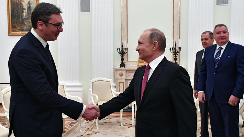 Путин подписал указ о награждении Вучича орденом Александра Невского