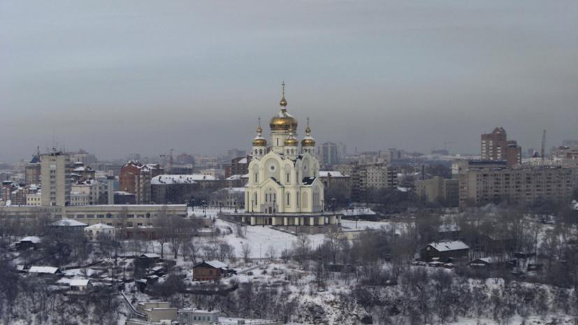 В Спасо-Преображенском кафедральном соборе Хабаровска прошли рождественские богослужения