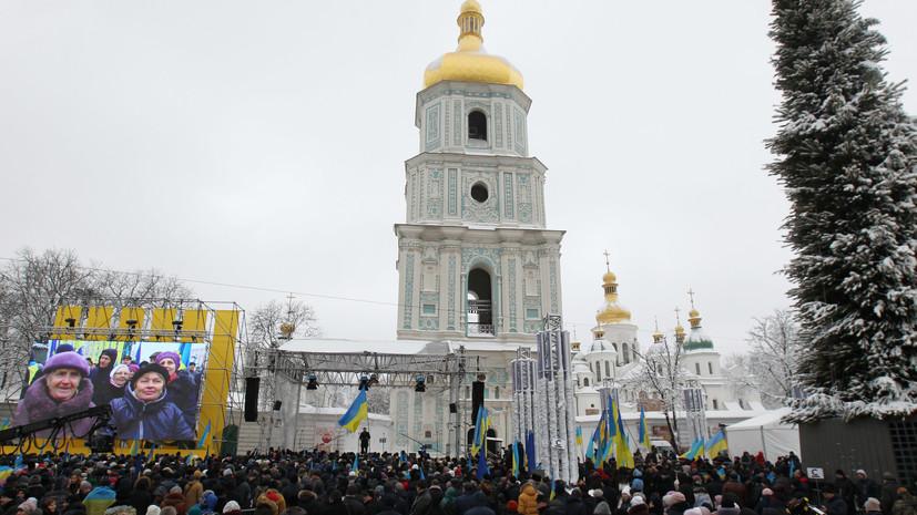 Томос об автокефалии церкви Украины забрали из Софийского монастыря