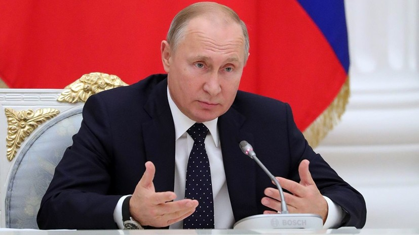 Путин ввёл в эксплуатацию терминал по приёму газа в Калининграде