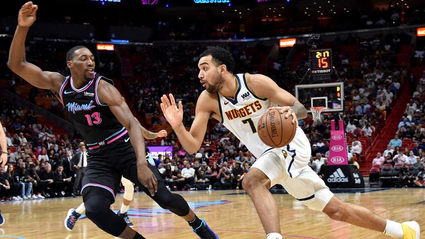 Трипл-дабл Йокича помог «Денверу» обыграть «Майами» в матче НБА