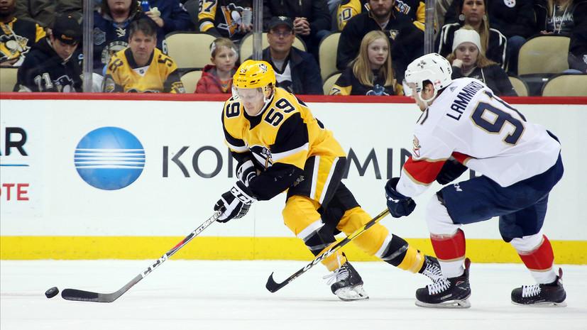 «Питтсбург» обыграл «Флориду» в матче НХЛ, Малкин отдал одну передачу