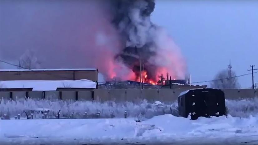 В Оренбургской области локализовали пожар на заводе
