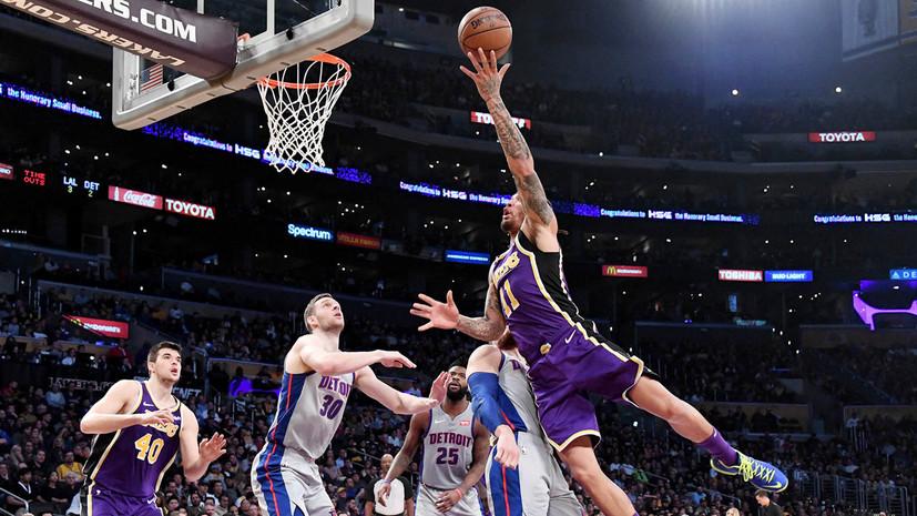 Кузма набрал 41 очко и помог «Лейкерс» обыграть «Детройт» в матче НБА