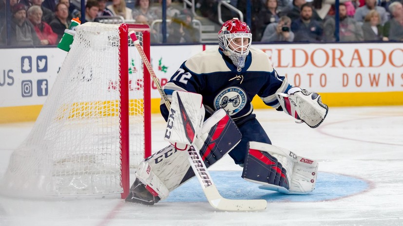 «Коламбус» отстранил Бобровского на один матч НХЛ