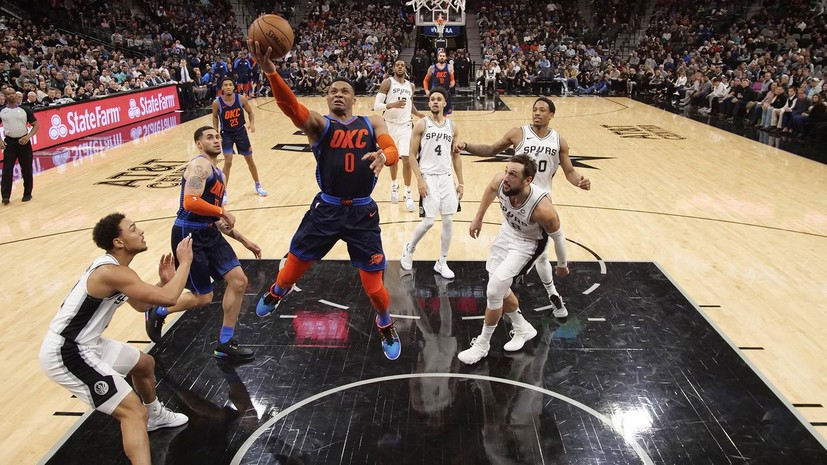 «Сан-Антонио» в овертайме обыграл «Оклахому» в НБА, Олдридж набрал 56 очков