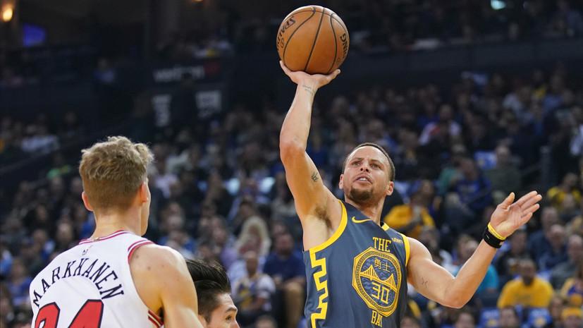 «Голден Стэйт» разгромил «Чикаго» в регулярном чемпионате НБА