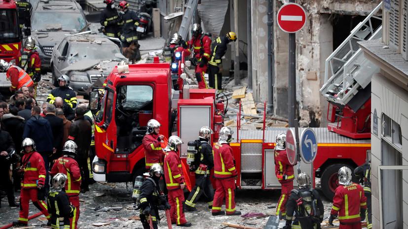 Число погибших при взрыве в Париже возросло до четырёх
