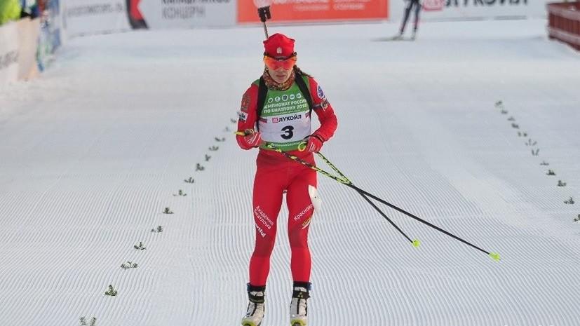 Васильева рассказала о падении в эстафете на этапе КМ по биатлону в Оберхофе