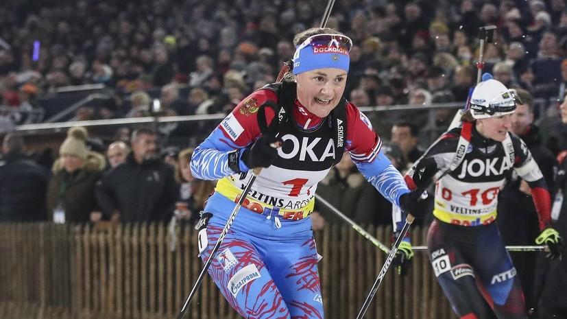 Женская сборная России победила в эстафете на этапе КМ по биатлону в Оберхофе