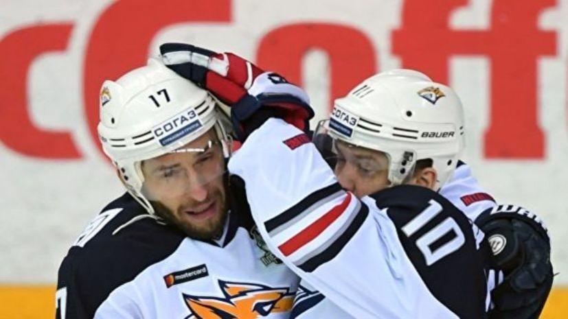 Дубль Мозякина помог «Металлургу» обыграть «Нефтехимик» в матче КХЛ