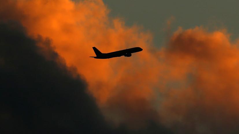 В сети опубликовано видео с места крушения Boeing 707 в Иране