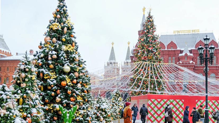 Новогодние украшения демонтируют в Москве с 14 по 20 января