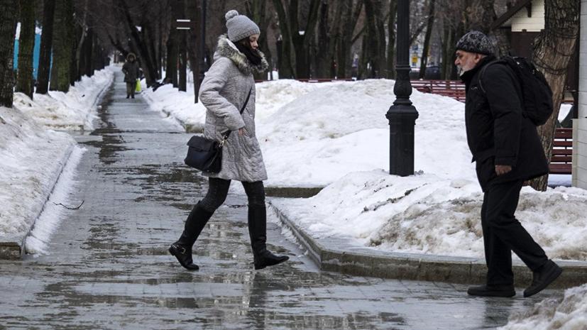 В Москве зафиксирована первая январская оттепель