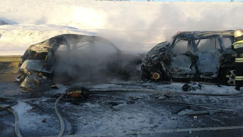 В полиции подтвердили гибель семи человек в ДТП под Воронежем