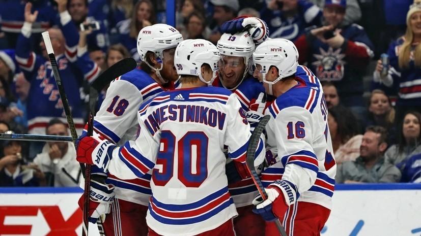 Дубль Бучневича помог «Рейнджерс» разгромить «Каролину» в матче НХЛ