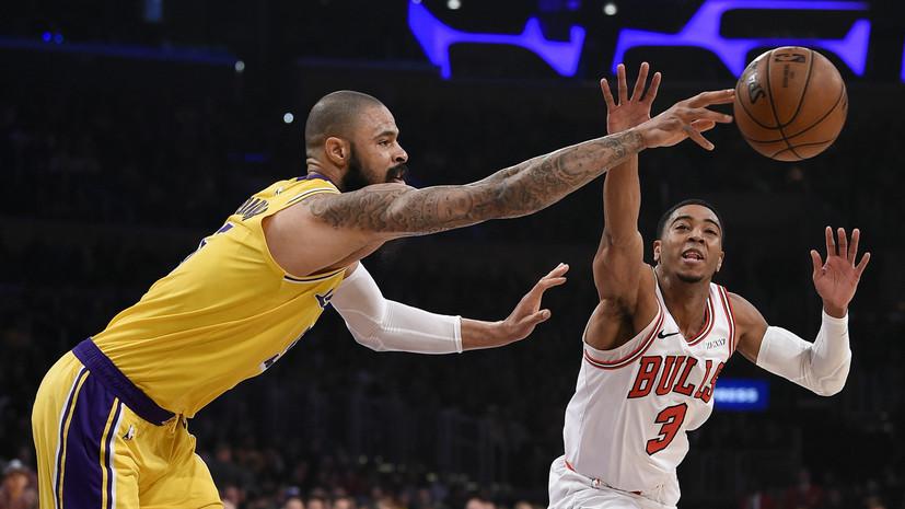 «Лейкерс» без Джеймса победил «Чикаго» в матче НБА