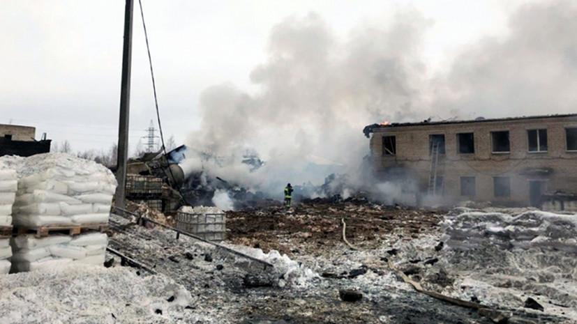 «Производственное здание полностью разрушено»: что известно о взрыве на заводе в Ленинградской области