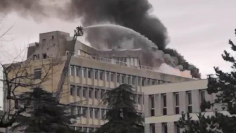 Опубликовано видео взрыва в университете Лиона