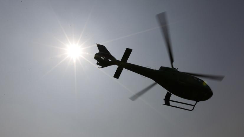 В Алма-Ате упал вертолёт