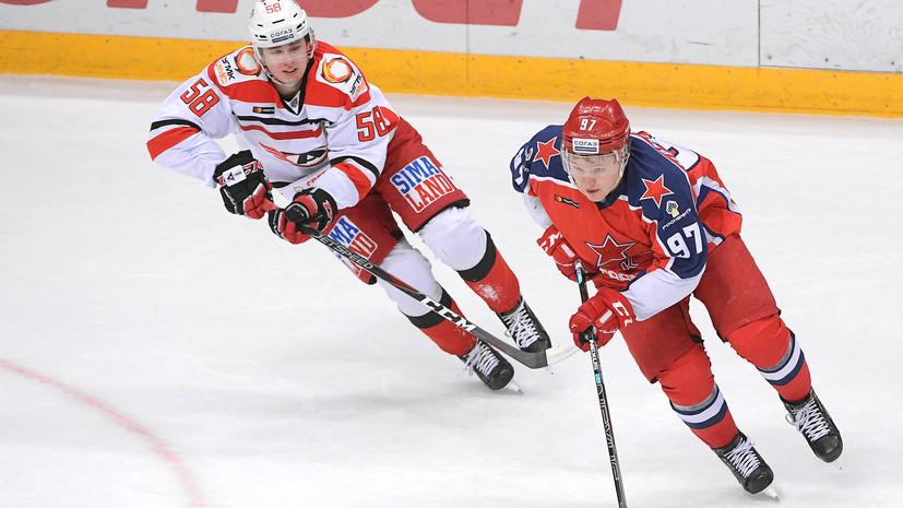 Дубль Слепышева помог ЦСКА победить «Автомобилист» в матче КХЛ