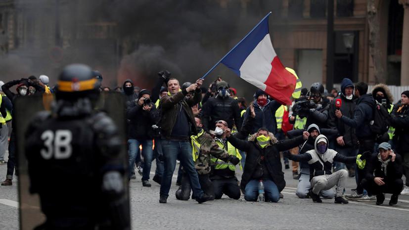 Встолице франции  готовятся ксамой массовой демонстрации «желтых жилетов».