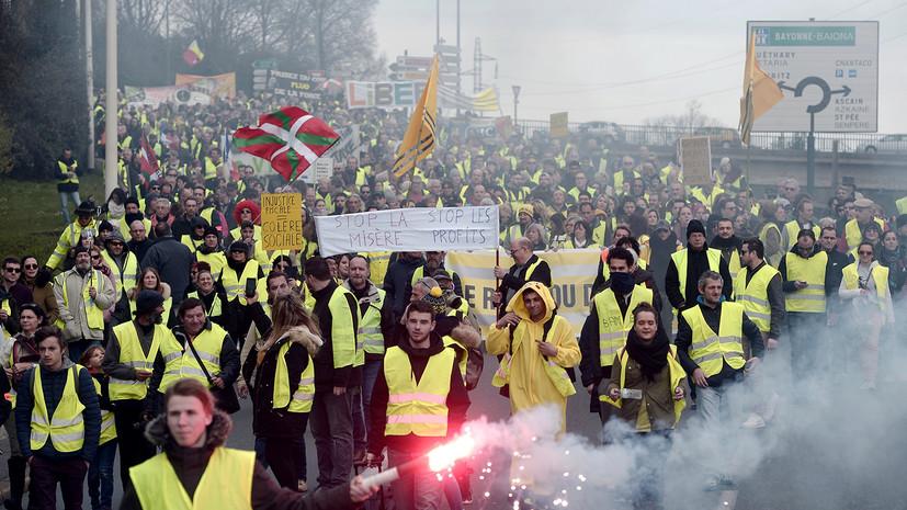 В протестах «жёлтых жилетов» во Франции участвовали 84 тысячи человек