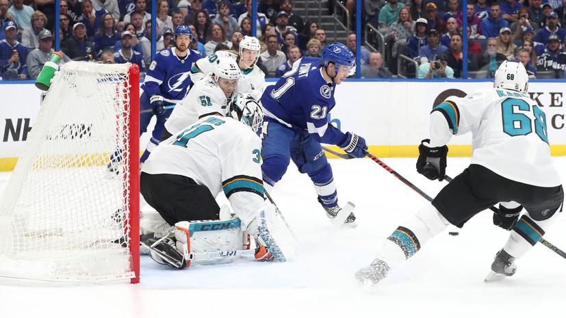 Два очка Кучерова и 36 сейвов Василевского помогли «Тампе» обыграть «Сан-Хосе» в матче НХЛ
