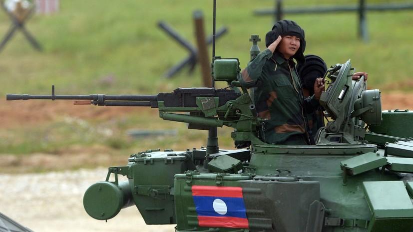 На параде в Лаосе продемонстрировали российскую военную технику